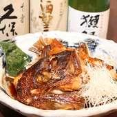 人気メニュー「鯛のかぶと煮」