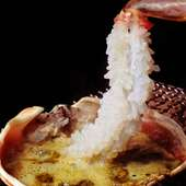 名物「越前蟹(ずわい蟹)」を使った身も心も温まるお料理の数々をお愉しみ下さい。