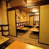 8席、16席、32席、40席での個室利用が可能です。