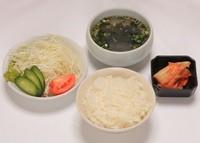 ライス・スープ・サラダ・ミニキムチ