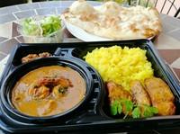 本日のカレー1種(肉カレーor野菜カレー)、ナンorライス、サラダ