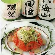 《白身魚の和風サラダ》