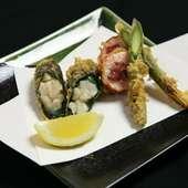 四季折々、新鮮な地元産の野菜や魚をお召し上がりいただけます
