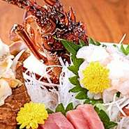 創業来人気の名物海鮮しゃぶや寿司や鮑料理、国産天然活伊勢海老、本九絵、すっぽん!大小7の個室で日本料理の醍醐味を!