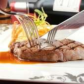 伊賀肉のやわらかいフィレ部位(テンダーロイン)のステーキコースです