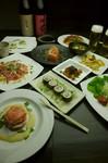お料理が8品、ドリンク飲み放題二時間半付いて4500円ジャスト。