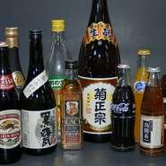 お酒類も豊富にご用意しております。お料理と合うものやお好みををお選びください。