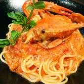 渡りがにのトマトクリームスパゲッティ