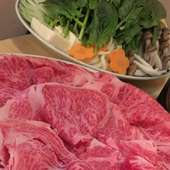 肉料理の王道【すき焼きコース】当店自慢のA5ランク牛を愉しむ
