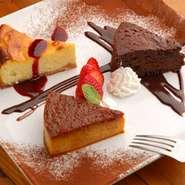 4名様以上でお誕生日パーティーの場合、ホールケーキを1000円でご提供。 コースご注文だと、チョコフォンデュもセットにできます