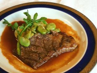 特製デミグラスソースで仕上げた『上州牛のアミ焼きステーキ』
