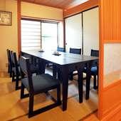 座敷からテーブル席までいろいろな席のバリエーションがあります