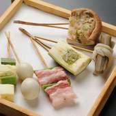 串かつが楽しめる7種のコースは、大切な相手との食事に最適