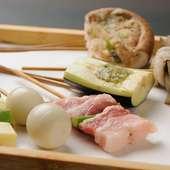 串かつ11品に料理がついた、一番人気の『京コース』