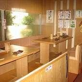 宴会や接待で、便利に活用できるテーブル席