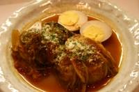 お肉たっぷりのロールキャベツをコトコトじっくり煮込んだ手作りならではの美味しさです