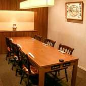 落ち着いた雰囲気の完全個室