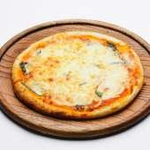 明太子と大葉のピザ