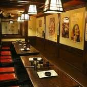 30年以上続く、落ち着きのある昭和レトロな雰囲気が漂うお店