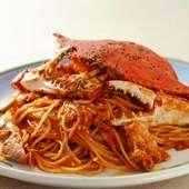 歴代人気NO.1!渡り蟹のトマトソーススパゲティ