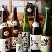 地酒など、日本酒が充実しています!