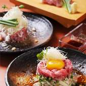 新鮮お肉のユッケをはじめ、各種単品も取り揃えております