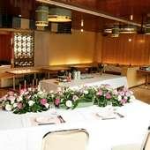 大部屋+鏡面のお部屋 着席110名~150名様 立食120名~170名様