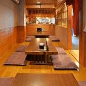 貴重なひとときを和食と焼酎、地酒で楽しむ