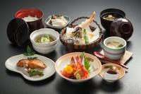 「当店1番人気」お刺身・焼き魚(銀鱈幽庵焼き)・天ぷら・茶碗蒸し・茶そば・ご飯・味噌汁・お新香