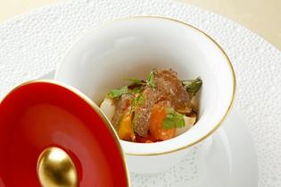 『タスマニアサーモンと焼き野菜のマリネ バルサミコ風味』
