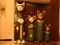 猫達がお出迎え