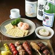お好きな串3串、明太ポテトサラダ、豆腐、デザートが付いて1600円