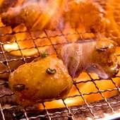 丸腸  炭火で焼いて余分な脂を落として頂きます!