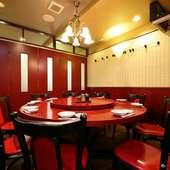 最大13名まで利用可能な円卓個室
