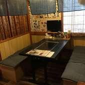 TV付半個室あり!鉄板を囲みながらわいわいとお楽しみください