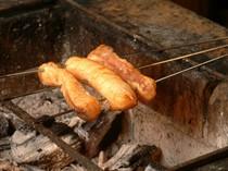 あんこう焼物。炭火でじっくり焼き上げます。