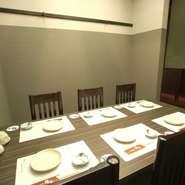 大切なお客様のおもてなしには、美味しいお料理はもちろん、まわりを気にせずにお食事ができる個室を「函館ダイニング雅家」ではご用意しております!