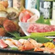 ウニ・イクラ・カニ・エビ・マグロなど新鮮な海鮮をお好みでお召し上がりください!