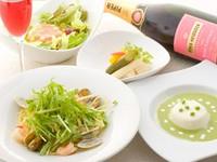 リーズナブルなランチコースは、この季節に美味しい食材を当店ならではの味付けでご堪能いただけます。