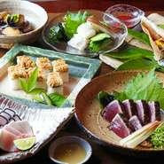 高知の郷土料理をメインとしたコースとなっております。県外からのお客様に最適です。