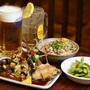 安くてうまい、春夏秋冬…串カツとビールで地元のお客さんも県外のお客さんもまずは、葉牡丹で冷えたビールで一杯如何でしょうか?!