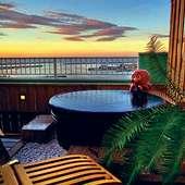 貸切露天風呂は、時を忘れるぐらいの海景色