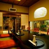 9室の日本間はすべてプライベート空間。大切なご接待の御席に…