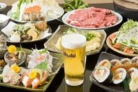 ●季節(春夏秋冬)のコース料理(2時間飲み放題付き)