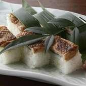 鶏ももの笹寿司