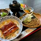 天ぷら上定食(刺身・とろろ)