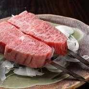 口の中に入れた瞬間にとろけてしまう、鮮度の高い上質な肉をご提供しております。