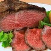 柔らかな伊萬里牛の甘みが楽しめる『伊萬里牛のローストビーフ』