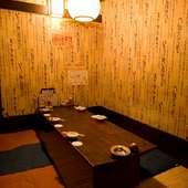 様々な個室をご用意してお待ちしております。