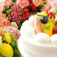 BerioのMENUの中でも人気が高いコースです。手作りケーキ、ミニブーケなど特典7つがプレゼント!誕生日や結婚記念日、色々なお祝いに。